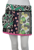 "Short 14"" Reversible Cotton Skirt (sizes 0-12) with Detachable Pouch"