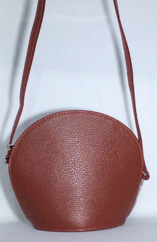 Rounded Shape Italian Shoulder Bag