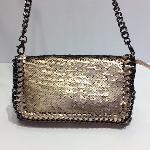 Metallic Italian Purse with Reversible Sequins