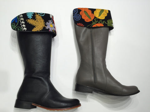 Specialty gypsy style boot with suzani cuff