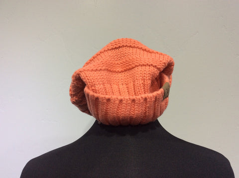 Hat knit slouch beanie