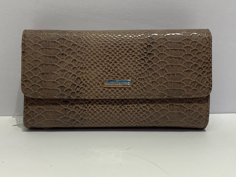 Crocodile Textured Italian Leather Purse Wallet