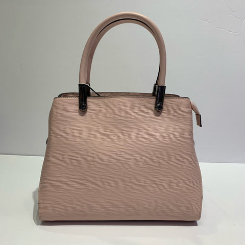 Blush Pink Textured Italian Leather Purse