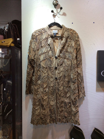 "32"" Laser Cut Leaf Car Coat"