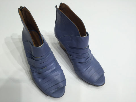 Specialty summer boot in a beautiful soft periwinkle blue