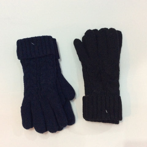 2 cable knit glove