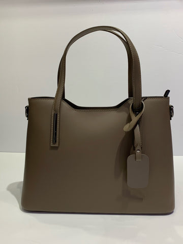 Smooth Italian Leather Larger Handbag