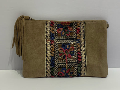 Tapestry Accents Italian Suede Purse
