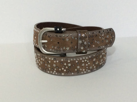 Star Studded Leather Belt