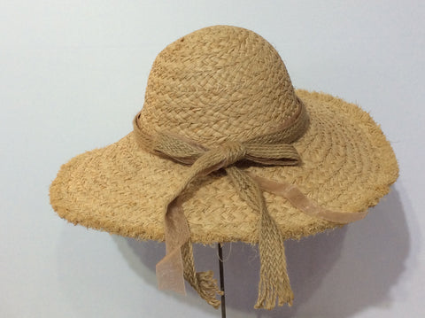 Raw Edge Raffia Sun Hat