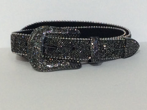 Graphite Stone Bling Belt