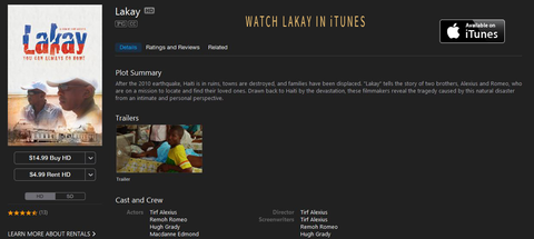 Watch Lakay in iTunes