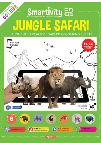 Smartivity EDGE Jungle Safari Colouring Sheet Set