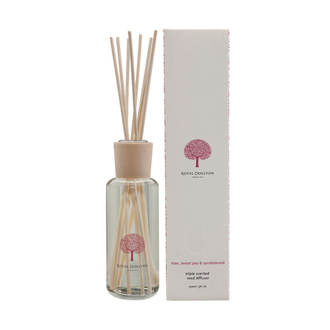 Rose, Sweet Pea & Sandalwood Mini Reed Diffuser