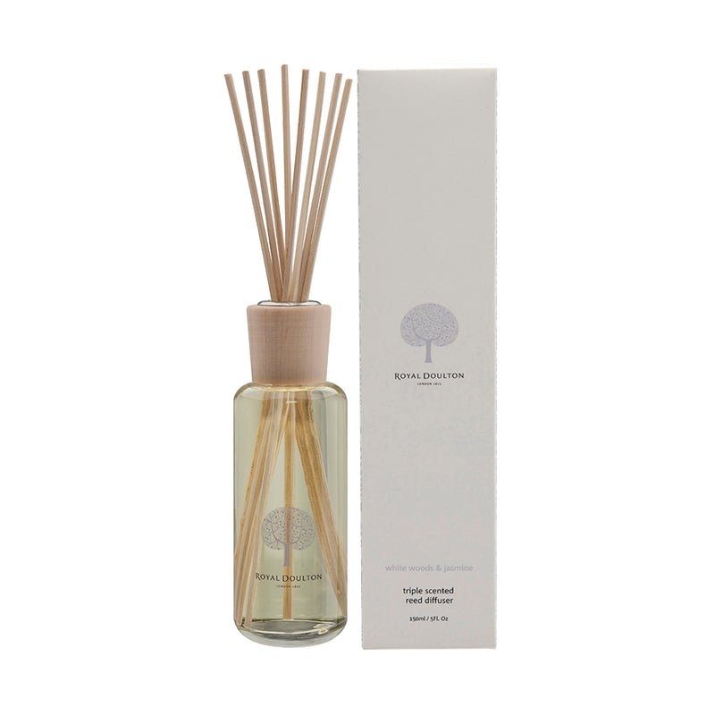White Woods & Jasmine Mini Reed Diffuser