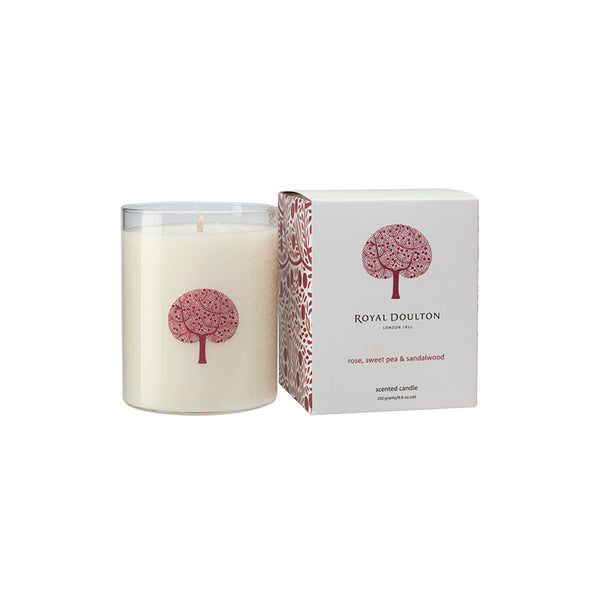 Rose, Sweet Pea & Sandalwood Candle