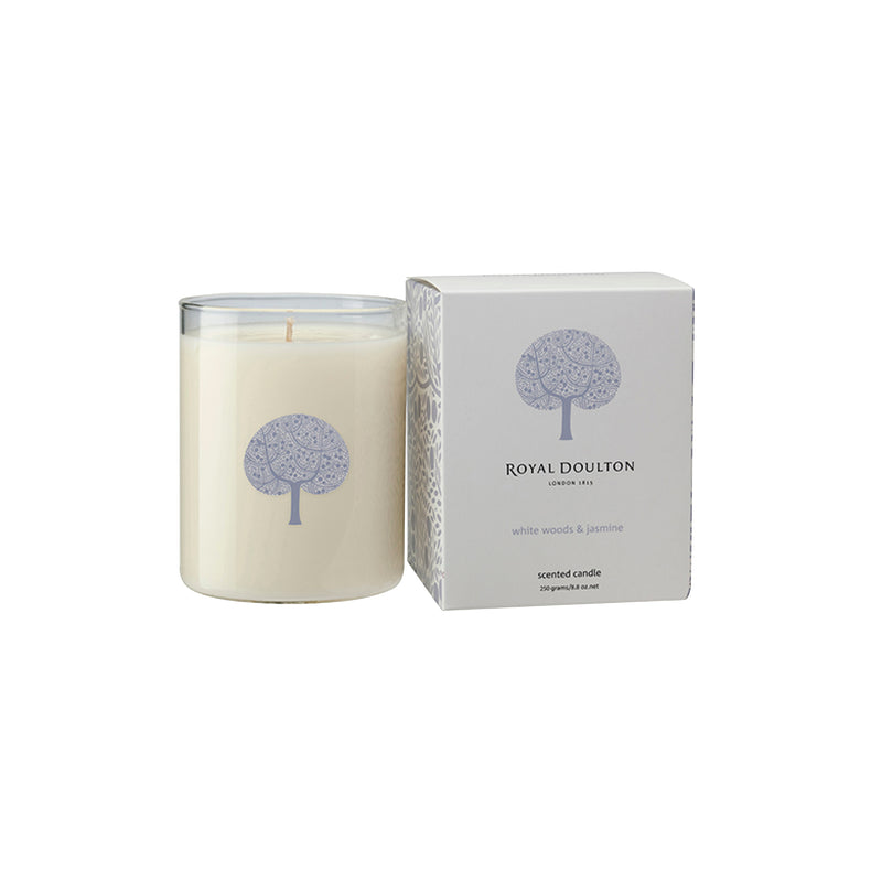 White Woods & Jasmine Candle