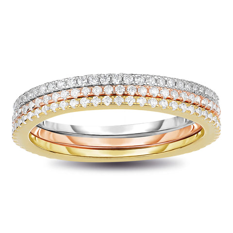 3pcs Stackable Eternity Ring