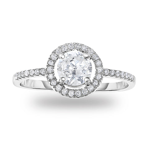 Classic Round Halo Ring
