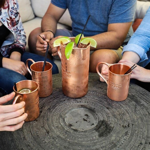 copper mugs party