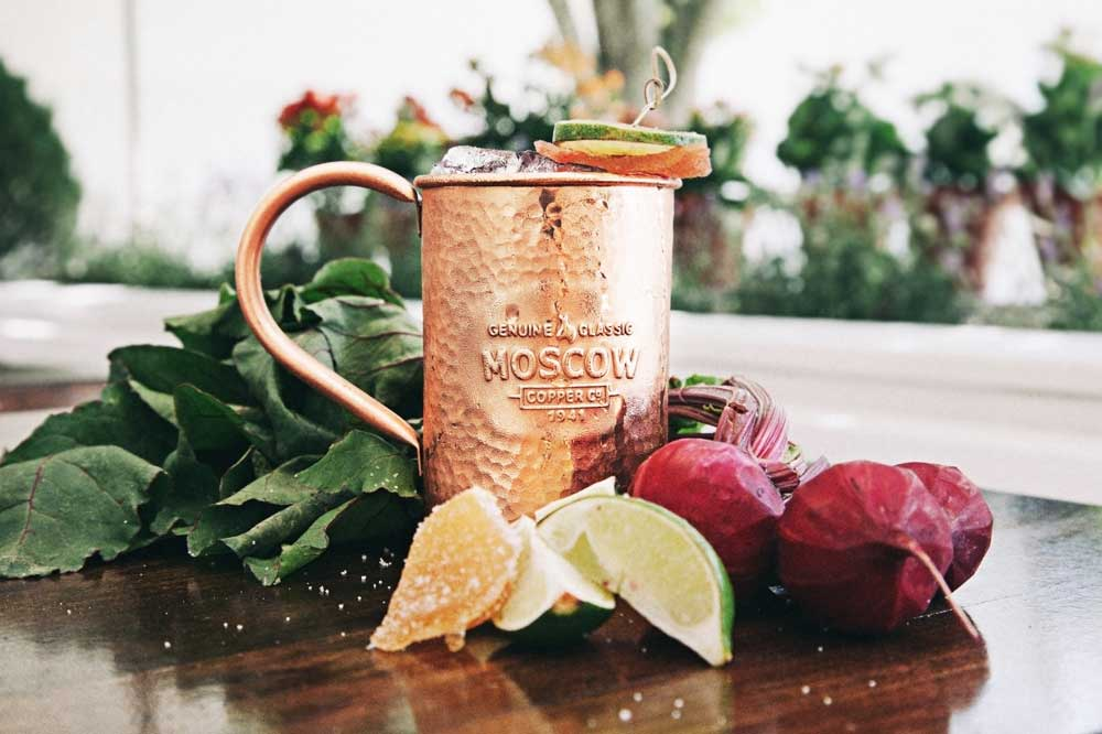 Beet The Mule Moscow Mule Recipe by Shannon StigginS from Palm Springs, CA