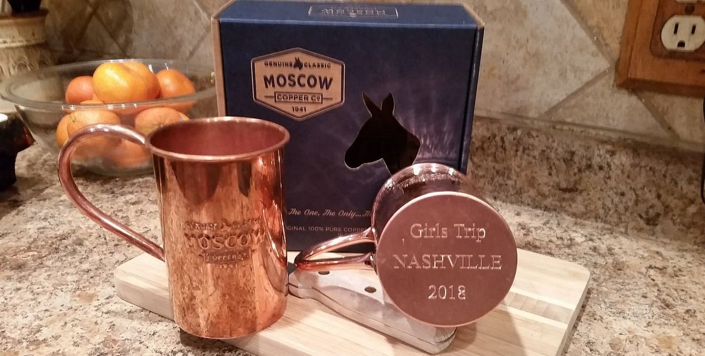 Custom Engraving For Moscow Copper Mugs