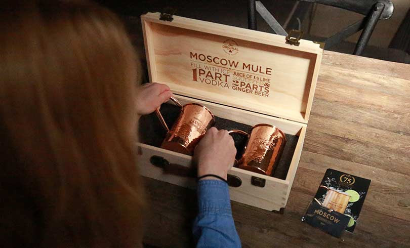 Moscow in a pine wood case