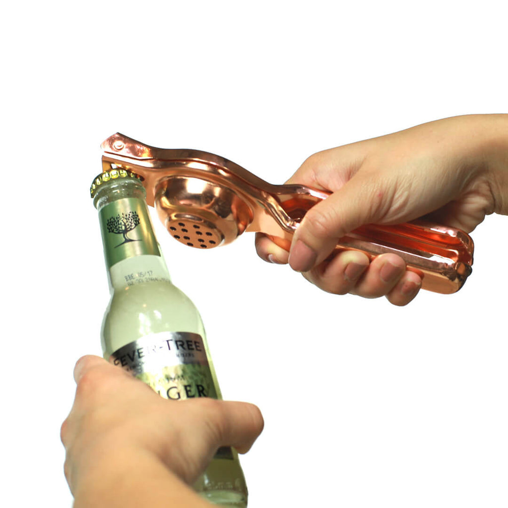 You can also use the copper lime squeezer as a bottle opener!