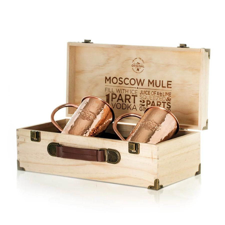 Two Original Moscow Mule Mugs with Collectors Box