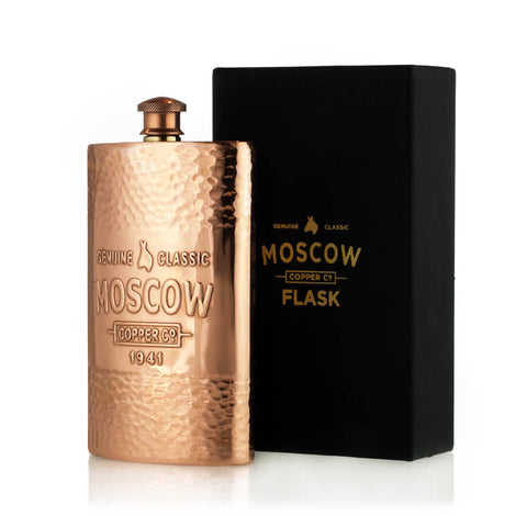 The 11-ounce Moscow Copper Co. Hammered Flask is the perfect vessel to hold your favorite spirits.