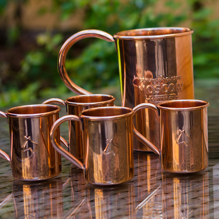 Moscow Copper Co.'s Mini Mules are a 2-ounce version of our 100% original copper mugs.