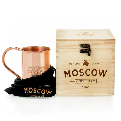 Order our 100% Original Copper Mugs in a custom wooden box for the perfect  gift