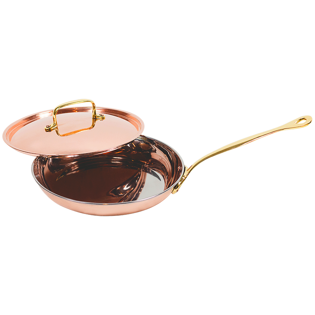 The Mollie Collection 9-inch copper frying pan/skillet with lid.