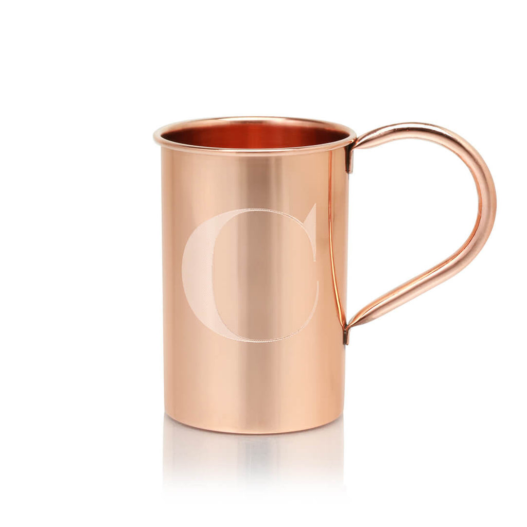 Engrave your Moscow Copper Co. mule mug with any letter of the alphabet.