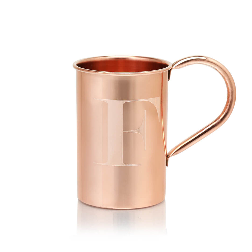 Moscow Copper Co.'s beautiful 100% copper mugs with monogrammed engraving.