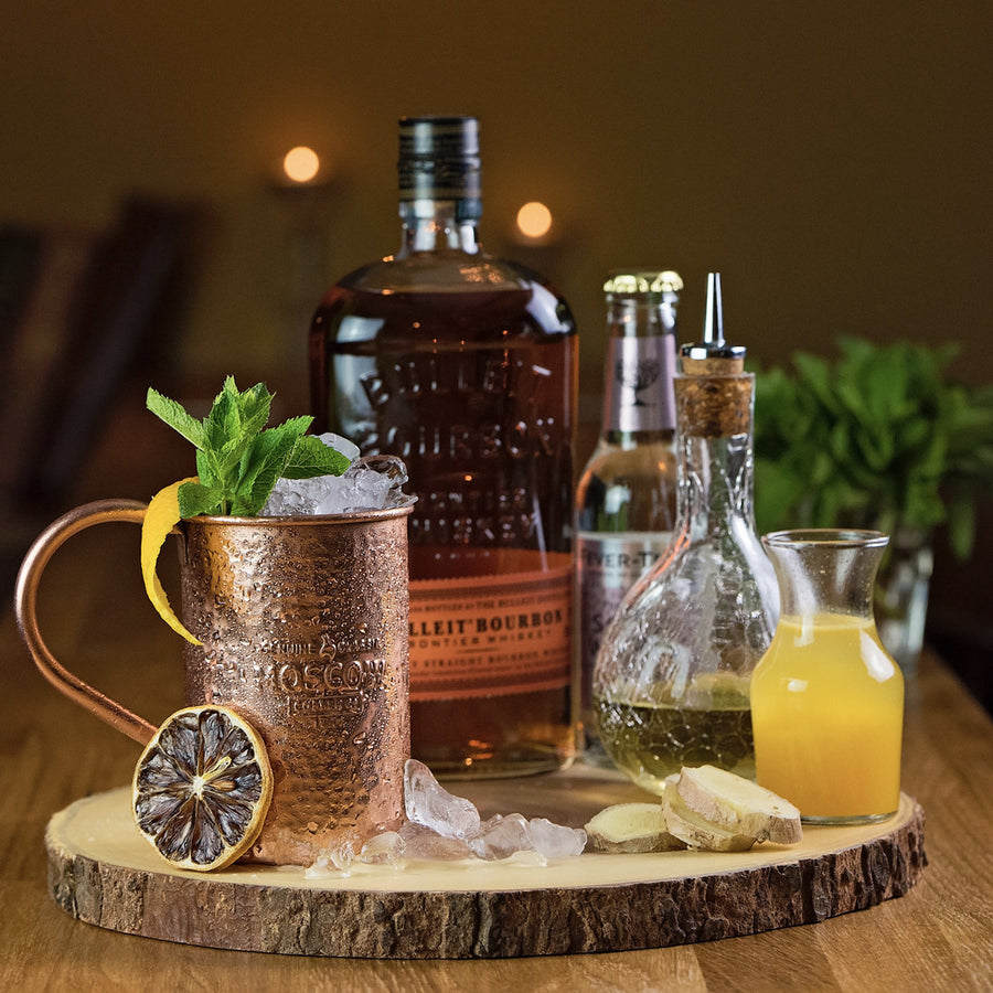 Serve up some elegance with a 100% Original Hammered Copper Mug from Moscow Copper Co.