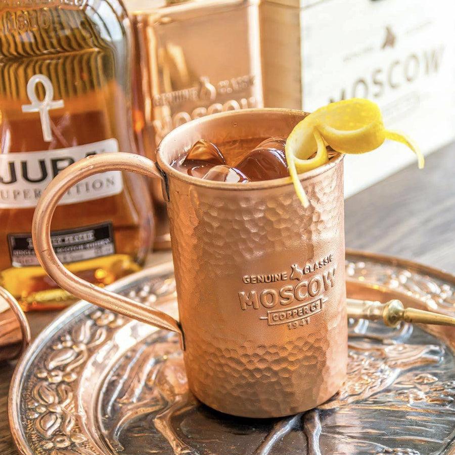 A 100% Original Hammered Copper Mug takes any cocktail from average to elegant.