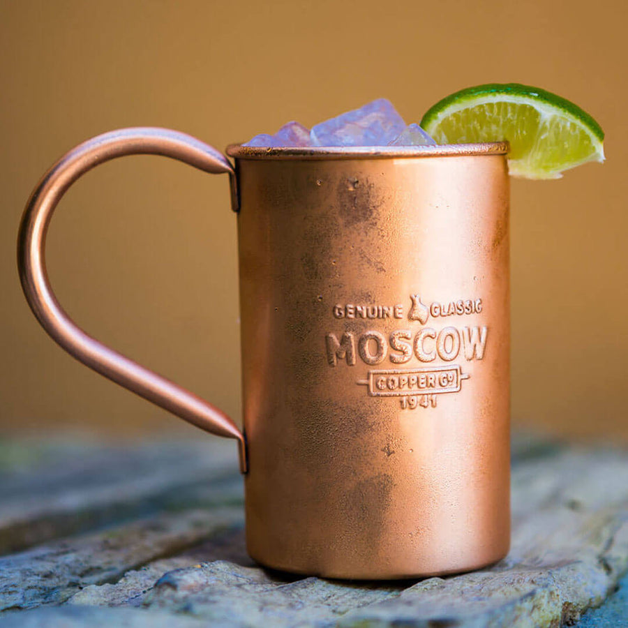 The 100% Original Moscow Copper Co. mug is the perfect vessel for your favorite Moscow Mule.
