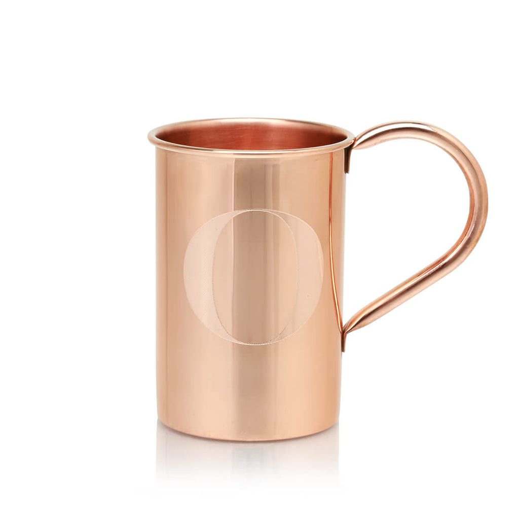 Personalize Moscow Copper Co.'s 100% copper mugs with any letter of the alphabet!
