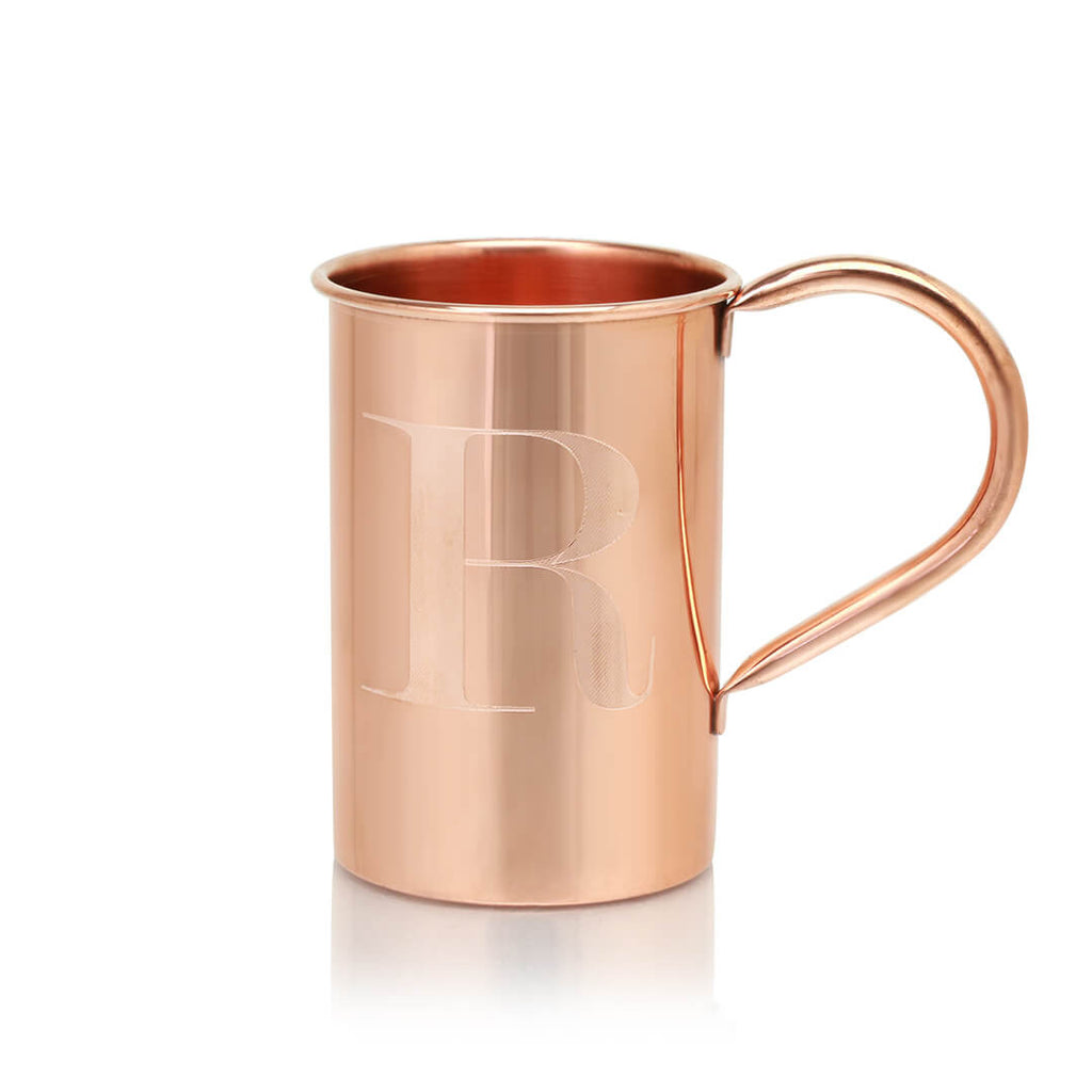 Our original Moscow Mule mugs can be customized with any letter of the alphabet!
