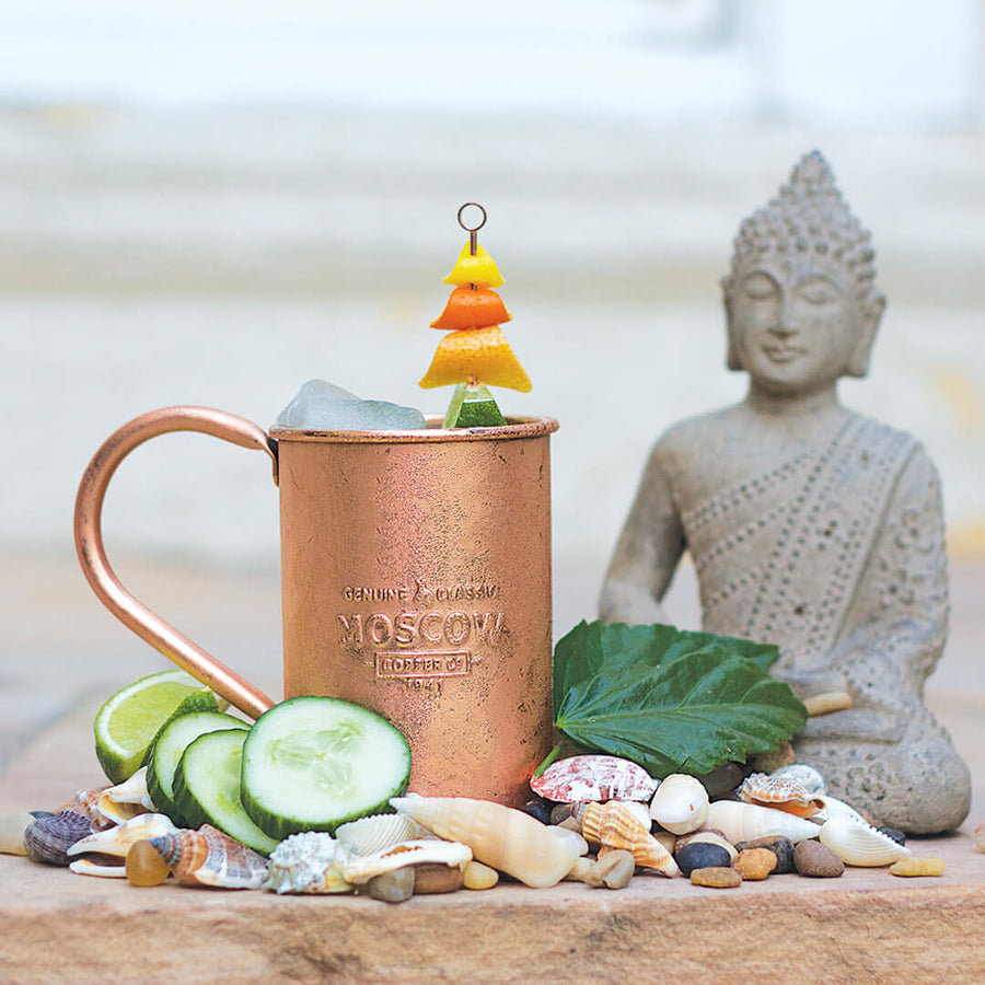 Moscow Copper Co. copper mugs are the perfect vessel for your favorite take on the Moscow Mule.