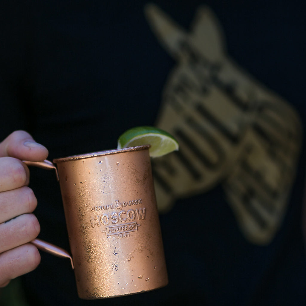 Moscow Copper Co.'s original copper mugs are the perfect drinking vessel for your Moscow Mule.