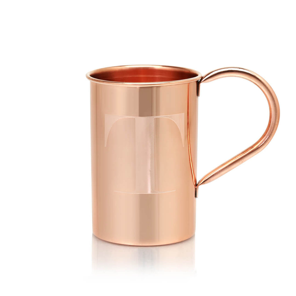 The letters A through Z can be engraved onto any of our 100% Original Copper Mule mugs.