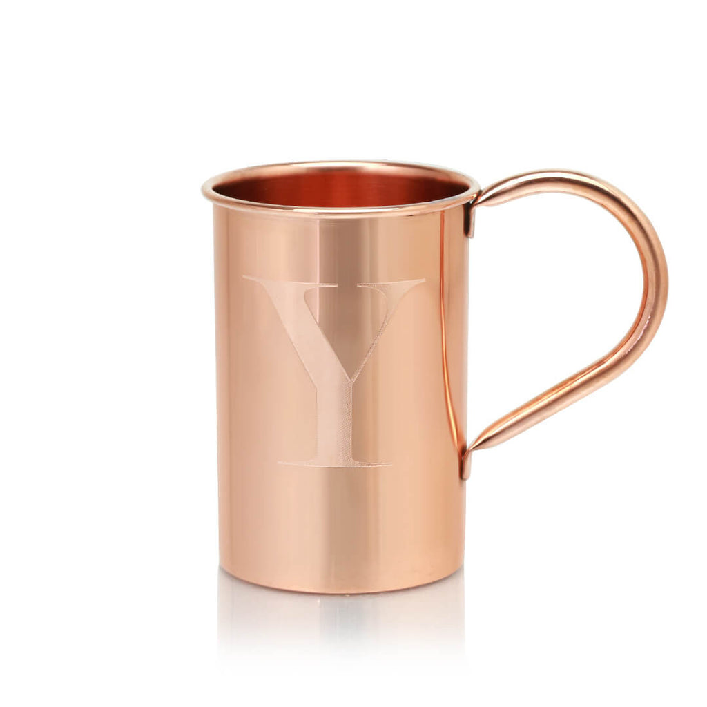 Monogrammed Moscow Copper Co. Original Mule mugs make the perfect gift.
