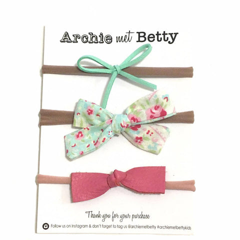 Headband Mixed Mini Bow Set