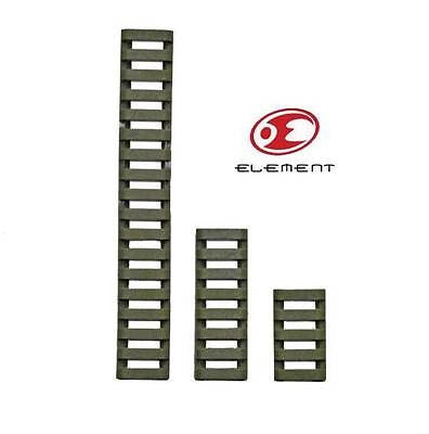 Element ERGO style LowPro Ladder Rail Covers - 3 Pack Foliage Green - Rifleworks Shooting Accessories