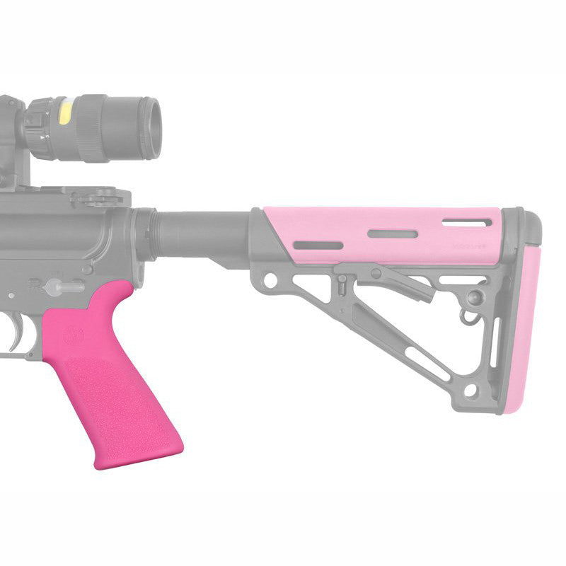 Hogue Grip Beavertail with No Finger Grooves - Pink - Rifleworks Shooting Accessories