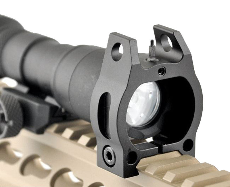 Front sight for flashlight - Black - Rifleworks Shooting Accessories