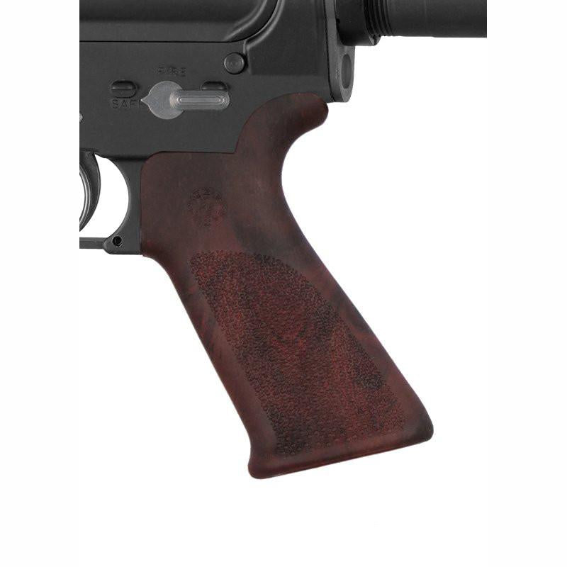 Hogue Grip Beavertail with No Finger Grooves - Red Lava - Rifleworks Shooting Accessories