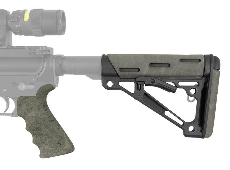 Hogue AR-15/M-16 Kit - OverMolded Grip & Buttstock - Commercial Spec - Ghillie Green - Rifleworks Shooting Accessories